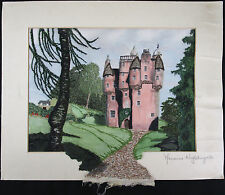 Marianne NIGHTINGALE, Original Textile Art, Pink Castle, Signed