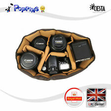 Ciesta flessibile M DSLR SLR Fotocamera Lente Corpo RF Partizione inserto Borsa Imbottita Custodia