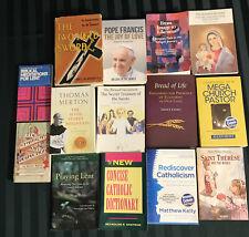 Lot of 14 Roman Catholic Interest Books Unusual Stuff All Nice Condition