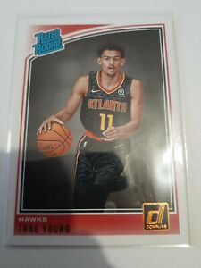 2018-19 NBA DONRUSS RATED ROOKIE #198 TRAE YOUNG HAWKS perfect card for grading