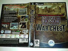 Medal of Honor Allied Assault War Chest PC Complete 4 discs FAT CASE 023-040