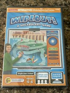 Lakeshore Interactive Whiteboard Software WIPEOUT! A Vocabulary Game BRAND NEW