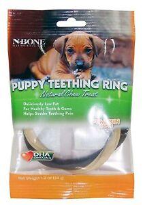 N-Bone Puppy Teething Ring Natural Chew Treat-Pumpkin Flavor