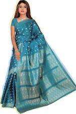 bleu clair Bollywood Carnaval SARI ORIENT INDE CA112