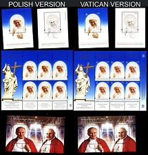 MNH stamps POLAND & VATICAN The canonization of Popes John Paul II & John XXIII
