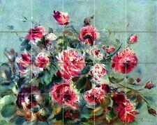 Art Still Life Pierre Renoir Flowers Mural Ceramic Backsplash Bath Tile #1844