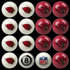 NEW Licensed NFL Arizona Cardinals Football Billiard Pool Cue Ball Set FREE SHIP