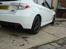 Subaru Impreza WRX STi 2008-14 Side skirt Extensions & Rear Lips Hatch. HT Autos