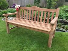 5ft/1.5 MEMORIAL TOP QUALITY HEAVY TYPE TEAK HARDWOOD PATIO ROSE GARDEN BENCH