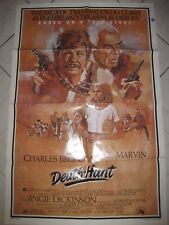 "DEATH HUNT 1981 Original 27x41"" One Sheet Movie Poster Charles Bronson L Marvin"