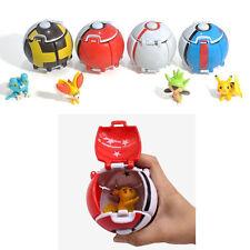 NEW 4PCS Bounce Pokemon Pokeball Cosplay Pop-up Elf Go Fighting Poke BALL Toy