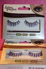 LOT/2 Salon Perfect ColorEnhance Lashes GREEN/HAZEL/BROWN EYES w/eyeliner Pencil