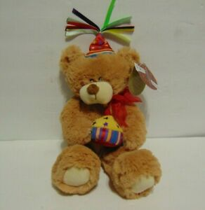 First and Main Teddy Bear Plush Happy Birthday with Tags