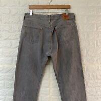 Vintage Levi's 501 Jeans Men's Classic Fit Straight Leg Grey Denim W38 L32