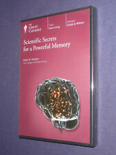 Teaching Co Great Courses CDs     SCIENTIFIC SECRETS  POWERFUL MEMORY     new