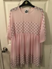 The Ragged Priest Pink Sheer Checked Dress XS