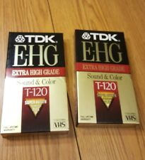 TDK extra high quality sound and color t120 super Avilyn technology lot of 2