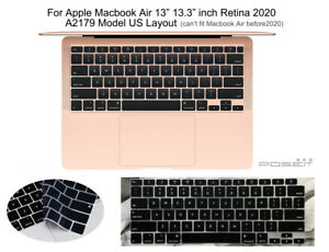 """Silicone Keyboard Skin Cover for 2020 New Macbook Air 13"""" Retina Touch ID A2179"""