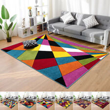 Heavy Duty Extra Large Living Room Area Rug Modern Abstract Small Large Carpet