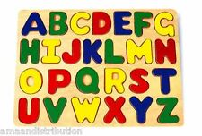 WOODEN TOYS KIDS CHILDRENS ABC ALPHABET TOY WOODEN PUZZLE