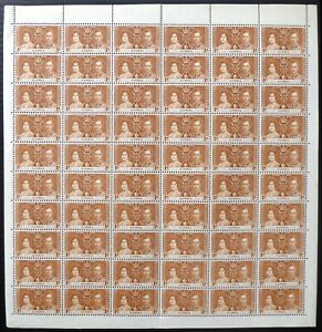 GAMBIA 1937 Coronation 1d Complete Sheet of 60 DG804