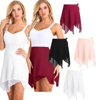 Adult Womens Girl Chiffon Dance Ballet Wrap Skirt Leotard Tutu Wrap Scarf Skirts