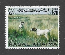 Dog Art Body Portrait Postage Stamp Pointing ENGLISH POINTER Rasal Khaima MNH