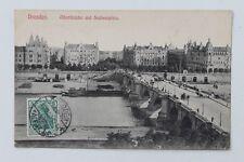 1731 AK Dresden Albertbrücke Sachsenplatz Elbe Brücke 6.12.1907 PC