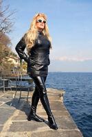Crotch boots extra langer Overknee Stiefel im Stil der 60er Jahre schwarz Gr. 36