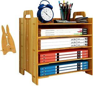 Papierablage , aus Holz, für Schreibtisch, Aktenordner, Briefablage, Sortierer