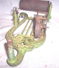 PUCK CYLINDER PHONOGRAPH FOR RESTORATION , NICE OLD ORIGINAL GREEN PAINT