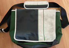 Vintage LACOSTE Unisex MESSENGER Shoulder BAG WHITE GREEN BLACK