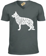 Pastor Alemán Camiseta Regalo Perro Aficionados Hombre Top con Cuello en V