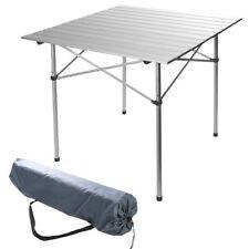 70 X 70cm CAMPING PICNIC ALUMINIUM TABLE ROLLING FOLD UP FOLDABLE PORTABLE + BAG
