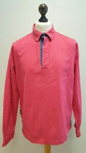 X779 MENS JOULES PINK L/SLEEVE SLIM FIT 1/4 BUTTON COLLARED SHIRT UK XL EU 56