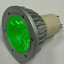 1W Single LED Green Coloured GU10 Spot Light Bulbs Down Light Instant On Lamps