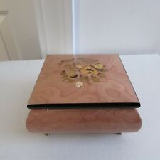 "Music Box, Handcrafted, Sorrento, Italy, ""Waltz of the Flowers,"" Wind-up, Works"