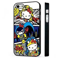 Hello Kitty Superhero Comic BLACK PHONE CASE COVER fits iPHONE