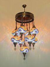 Turkish Mosaic Lamp Chandelier 9 GLOBE