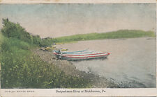Middletown PA * Susquehanna River and Boats ca. 1906 * Banks Bros. Tinted