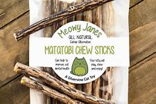 Matatabi Chew Sticks- Silvervine Cat Toy- Catnip Alternative- All Natural