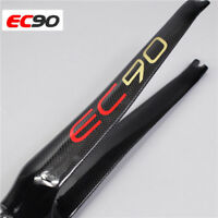 "EC90 Road bike 1 1/8"" Straight Steerer Ultralight Carbon fiber 700C Rigid Fork"