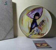 "Degrazia ""My First Horse"" Children At Play Series Collector Plate 1985 With Box"