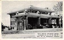 C28/ Sanford North Carolina NC Postcard c40s Red Brick Tourist Home Roadside