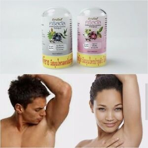 Crystal Natural Alum Roll On Stick 24 Hours Deodorant Remover Odor Armpit Arm
