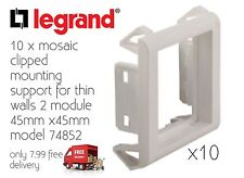 Legrand Mosaic Clipped Mounting Support 2M Box Of 10 74852 Only 7.99