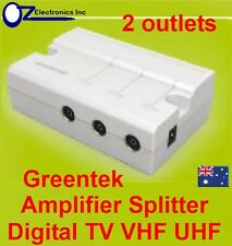 Greentek VTW-30 2 way splitter indoor signal booster TV FM COAX BRAND NEW