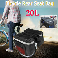 20L Bicycle Rear Rack Seat Saddle Bag Cycling Bike Pannier Tail Storage Pouch B