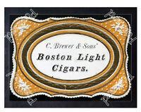 Historic Boston Light Cigars Ca 1870 Advertising Postcard