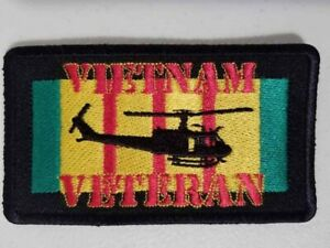 """Vietnam Veteran Helicopter Colors Patch sewn or iron 2.25 x 4"""""""